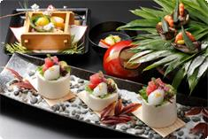 This is an example of a seasonal Kaiseki [Winter] cuisine.