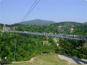 日本一の九重夢大吊橋。