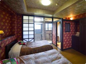 24時間プライベート温泉を独り占め!雄大な山々を望む展望露天風呂付客室