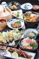 山菜や川魚を中心としたお料理