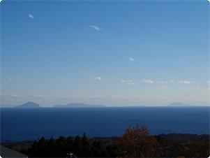 澄んだ日は伊豆七島まで!