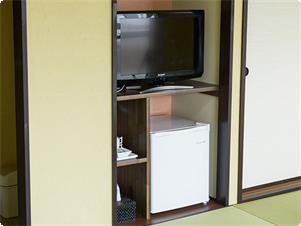 別館和室12畳のお部屋です。 テレビ・冷蔵庫完備。