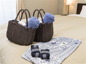 草津温泉の醍醐味は、なんと言っても、外湯巡り♪ 浴衣、バスタオル、ハンドタオルのセットです