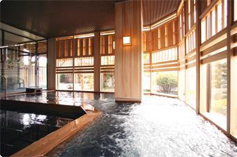成分自慢の天然温泉(大浴場)。