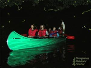青木湖で見る湖上の蛍ツアー