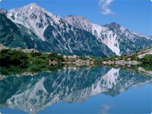 夏八方池と白馬三山