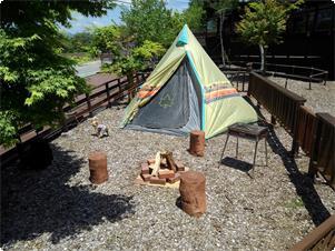 専用ガーデンでテント宿泊も出来ます! もちろん焚き火やバーベキューも・・・