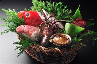 伊勢海老、金目鯛、細魚、かます等々冬の味覚の寒旬魚