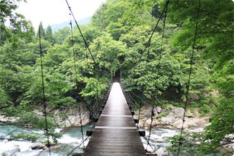 秋山郷「見倉橋」 (当館よりお車で30分、自転車で60分)