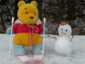 さらっさらの雪は気持ちいいよ~♪