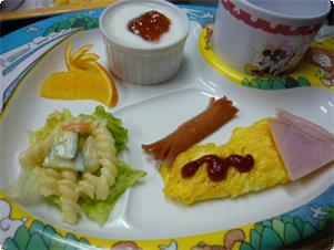 お子様用朝食の一例