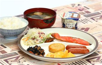 Japanese breakfast(If you reserved the plan not include sinner and breakfast,it costs 500 yen to add breakfast)