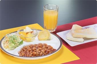 Vegetarian Breakfast(If you reserved the plan not include sinner and breakfast,it costs 500 yen to add breakfast)