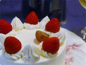 二人の記念日ケーキ