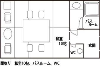 潮香庵の見取り図