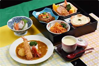 お子様定食(和食):刺身・茶碗蒸し付き