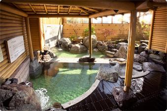 2種類の源泉でお出迎え... 【美白泉】天然ラドン温泉、天然アルカリ単純泉 美白泉は「美人の湯」と言われています