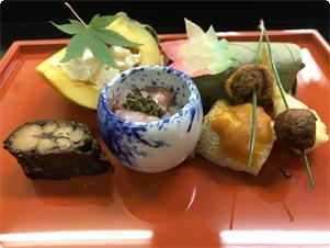 季節会席【秋】前菜料理の一例