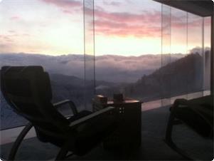 sky lounge retreatからは雲海を眺めながらおくつろぎ頂けます。