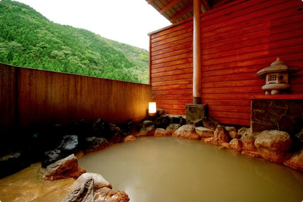 源泉掛け流しの露天風呂