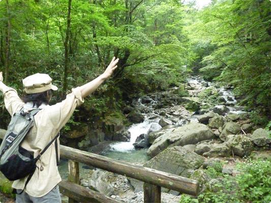 周辺には渡合三滝まで散歩ができる遊歩道があります(整備は行き届いていません)