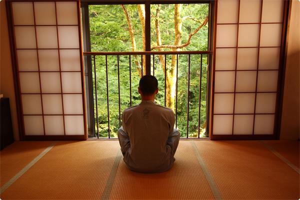 坐禅体験風景