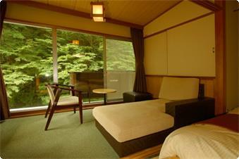 新館和室(ベッドタイプ)客室一例