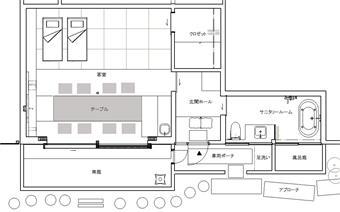 「本館ハナレ」の平面図