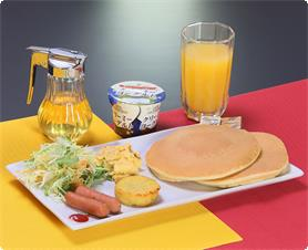 Pancake breakfast(If you reserved the plan not include sinner and breakfast,it costs 500 yen to add breakfast)