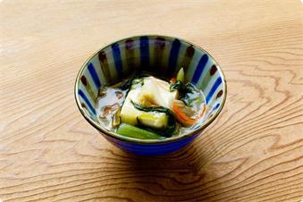 一汁四菜の現代湯治食 豆腐の生姜あんかけ