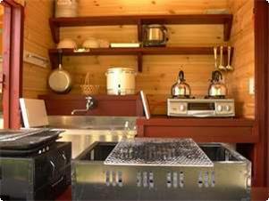 屋外自炊用の台所