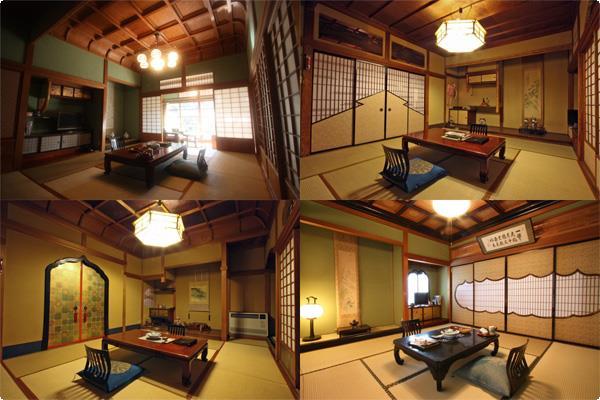 金具屋の客室は、間取り、材料、細工すべて異なります。
